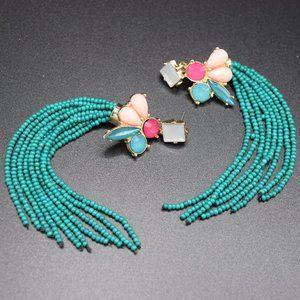 I.N.C. Beaded Fringe Drop Earrings